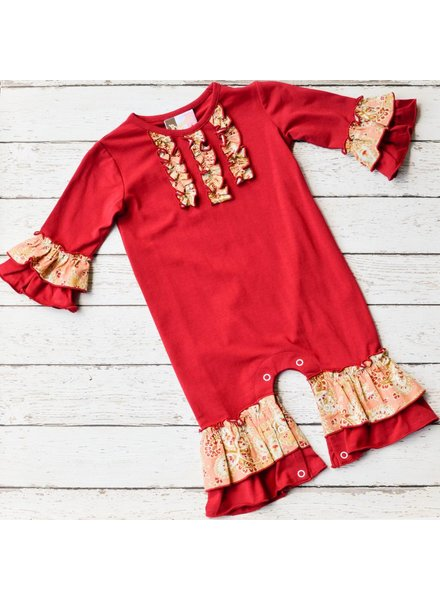 BANANA SPLIT KIDS Fall Floral Knit Romper