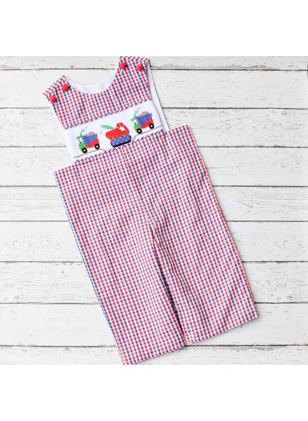 BANANA SPLIT KIDS Construction Smocked Longall