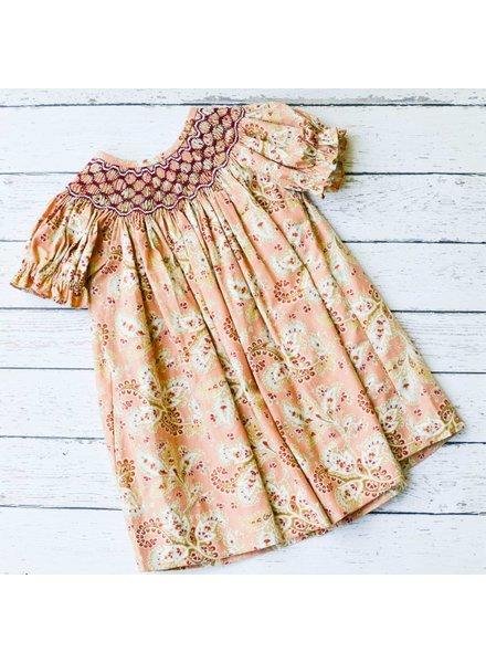 BANANA SPLIT KIDS Fall Floral Geo Bishop Dress