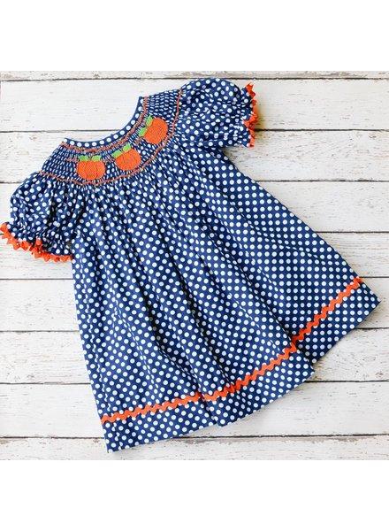 BANANA SPLIT KIDS Pumpkin Smocked Bishop Dress