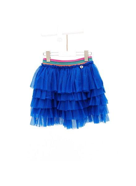 Mim-Pi Blue Tiered Skirt