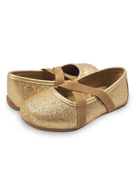 Livie & Luca Aurora Ballet Flat (Gold Sparkle)