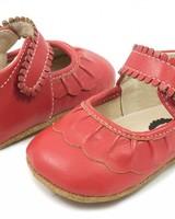 Livie & Luca Ruche Mary Jane (Baby) Red