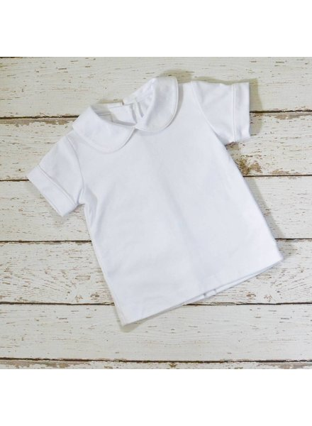ZUCCINI CORP Basic Knit Peter Pan Collar Shirt with White Piping