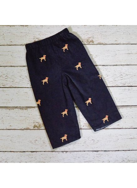 ZUCCINI CORP Lab Embroidered Navy Cord Reversible Pants