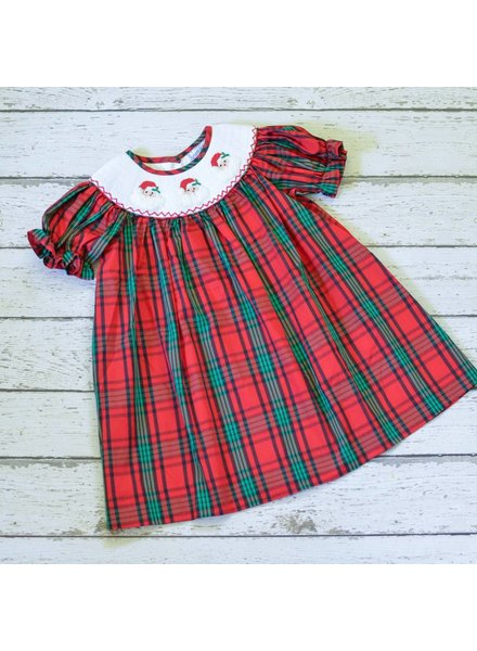 Three Sisters Ho Ho Ho Smocked Bishop Dress
