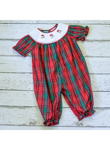 Three Sisters Ho Ho Ho Smocked Bubble Longall