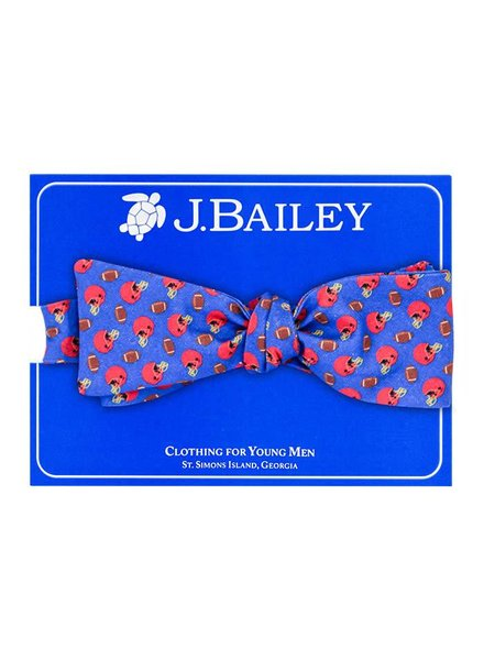 Bailey Boys Helmet on Blue Bow Tie
