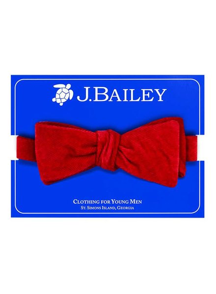 Bailey Boys Red Cord Bow Tie