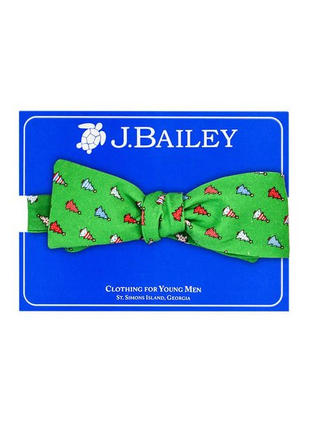 Bailey Boys Christmas Tree on Green Bow Tie