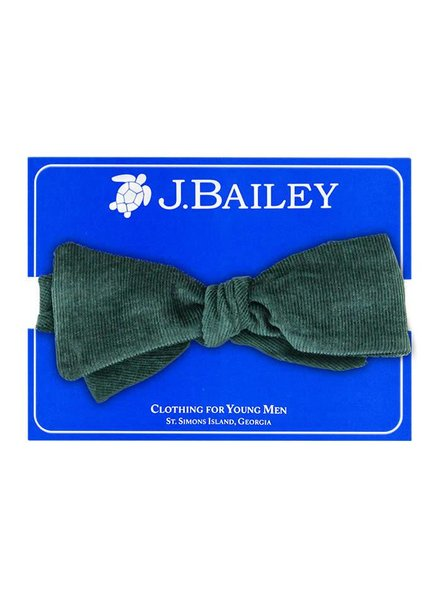 Bailey Boys Forest Green Cord Bow Tie