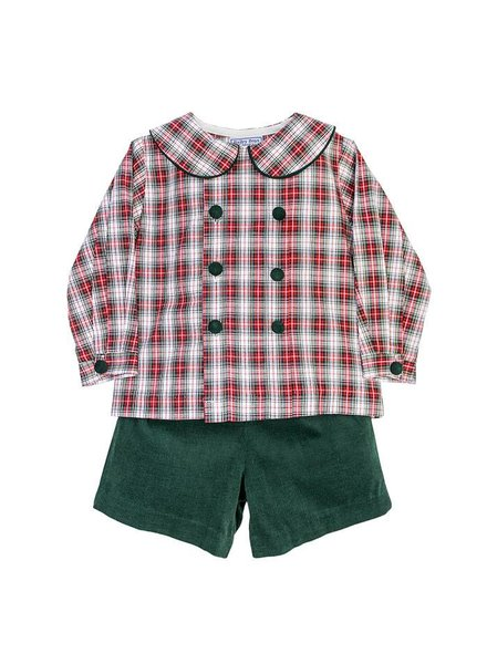 Bailey Boys Whisper Plaid Dressy Short Set
