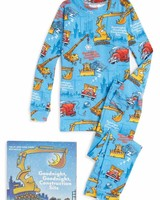 Books to Bed Goodnight Construction Site Pajama and Book Set