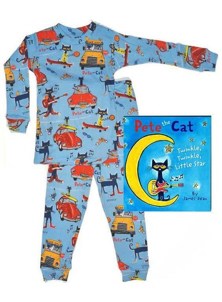 Books to Bed Pete the Cat Pajama and Book Set