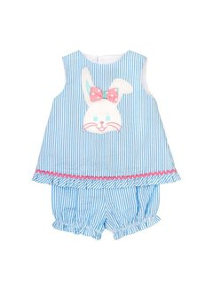 The Bailey Boys, inc Bunny Face Top with Bloomers