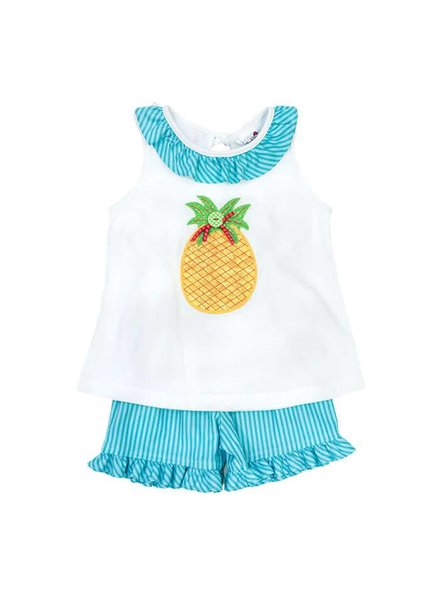 The Bailey Boys, inc Pineapple Girls Shorts Set