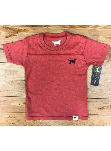 WES & WILLY First Mate Short Sleeve Yoke Tee Nantucket Red Blend