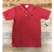 WES & WILLY Classic Short Sleeve Pique Polo in Nantucket Red