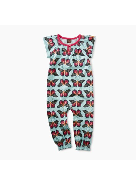 Tea Collection Bold Butterflies Smocked Romper