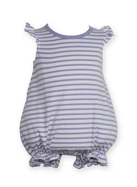 ZUCCINI CORP Lavender Stripe Angel Sleeve Knit Bubble