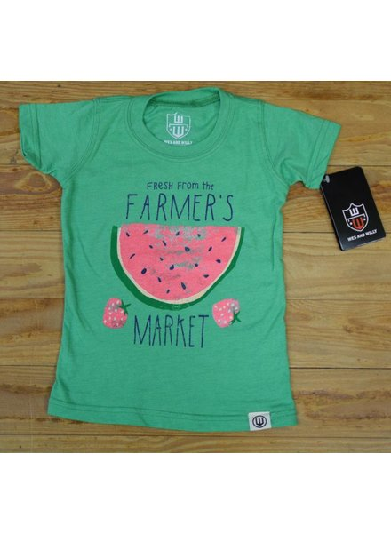 WES & WILLY Girls Farmers Market Blend Short Sleeve Tee