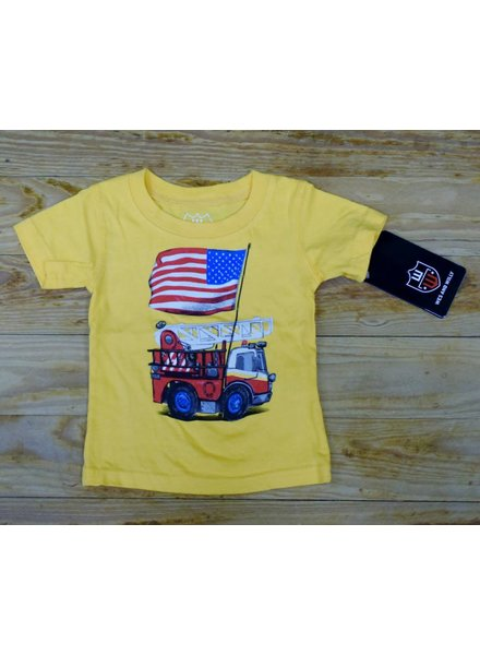WES & WILLY Fire Truck Short Sleeve Tee
