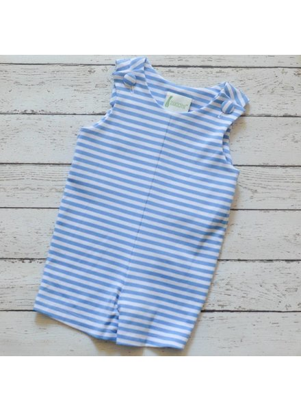 ZUCCINI CORP Party Blue Stripe Knit Shortall