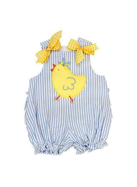 Bailey Boys The Spring Chick Applique Fanny Bubble