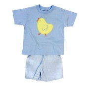 Bailey Boys The Spring Chick Applique Boys Short Set