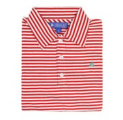 J BAILEY Red and White Stripe Polo