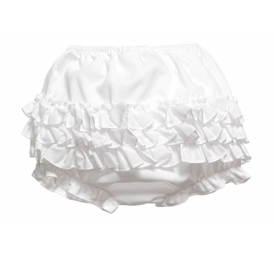 White Ruffle Panty Diaper Cover