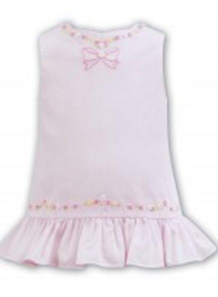 Sarah Louise Pink Sleeveless Aline Hand Embroidered Dress