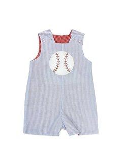 Bailey Boys Baseball Applique Reversible John John