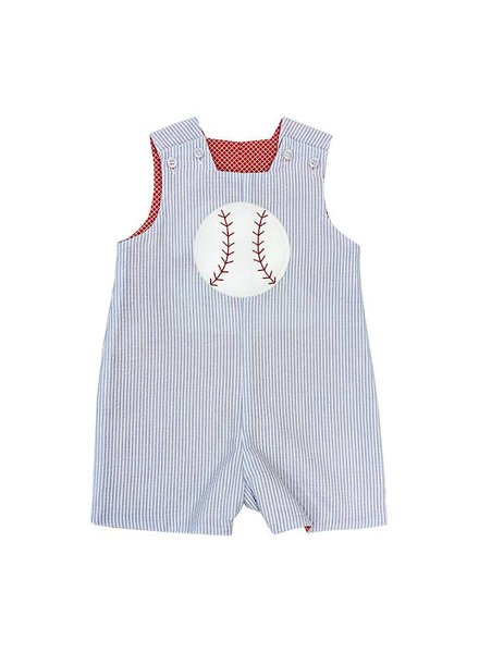 Bailey Boys Baseball Applique Reversible John John