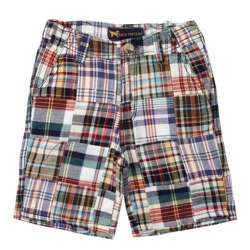 WES & WILLY Patriotic Navy Patchwork Shorts