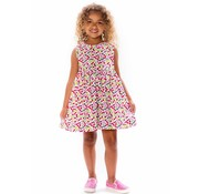 Smiling Button Cherries Pinny Dress