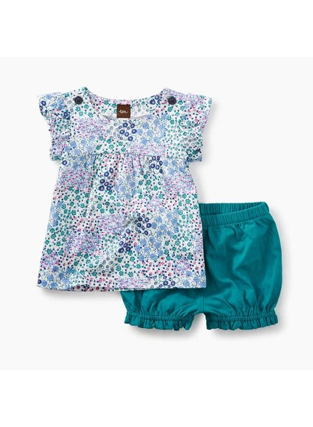 Tea Collection Jungle Floral Button Neck Bloomer Set