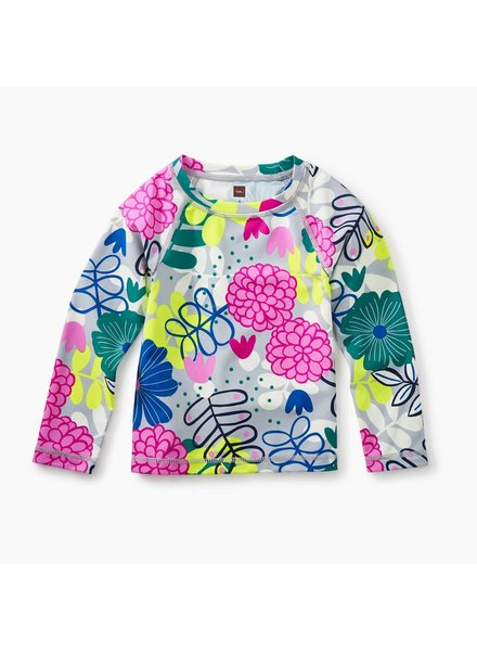 Tea Collection Long Sleeve Rash Guard in Colorful Bouquet