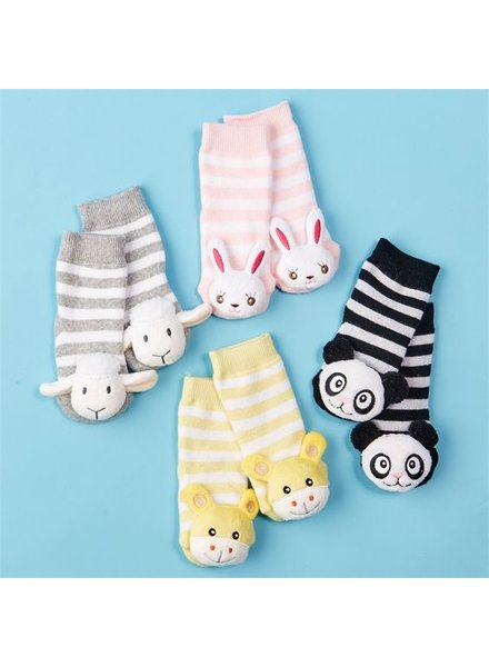 Two's Company Animal Rattle Socks