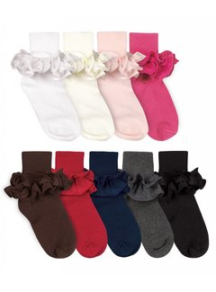 JEFFERIES SOCKS Misty Ruffle Turn Cuff Sock (2143)