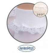 JEFFERIES SOCKS Simplicity White  Lace Turn Down Sock