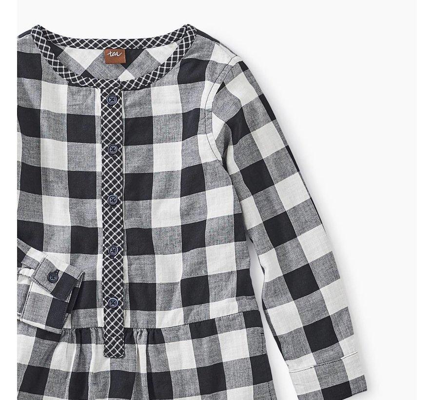 Checkered Plaid Shirtdress