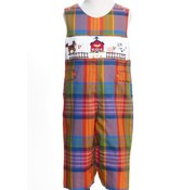 Fall Plaid Barnyard Smocked Longall