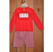 BANANA SPLIT KIDS Santa Smocked Boys T-shirt and Pants
