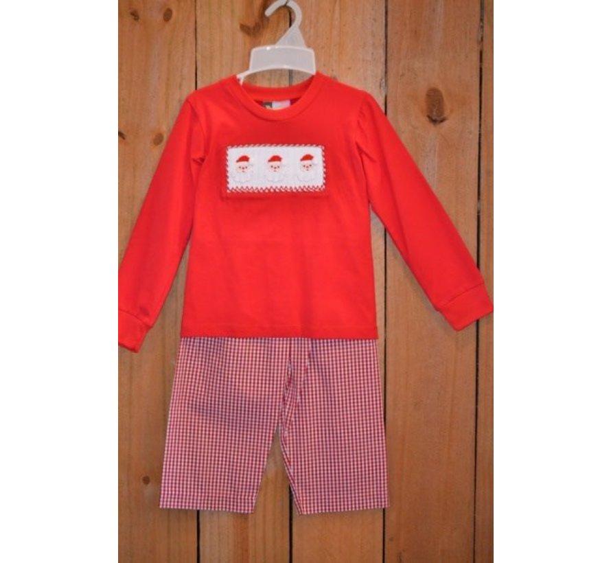 Santa Smocked Boys T-shirt and Pants