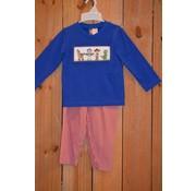 BANANA SPLIT KIDS Toy Time Smocked Boys T-shirt and Pants