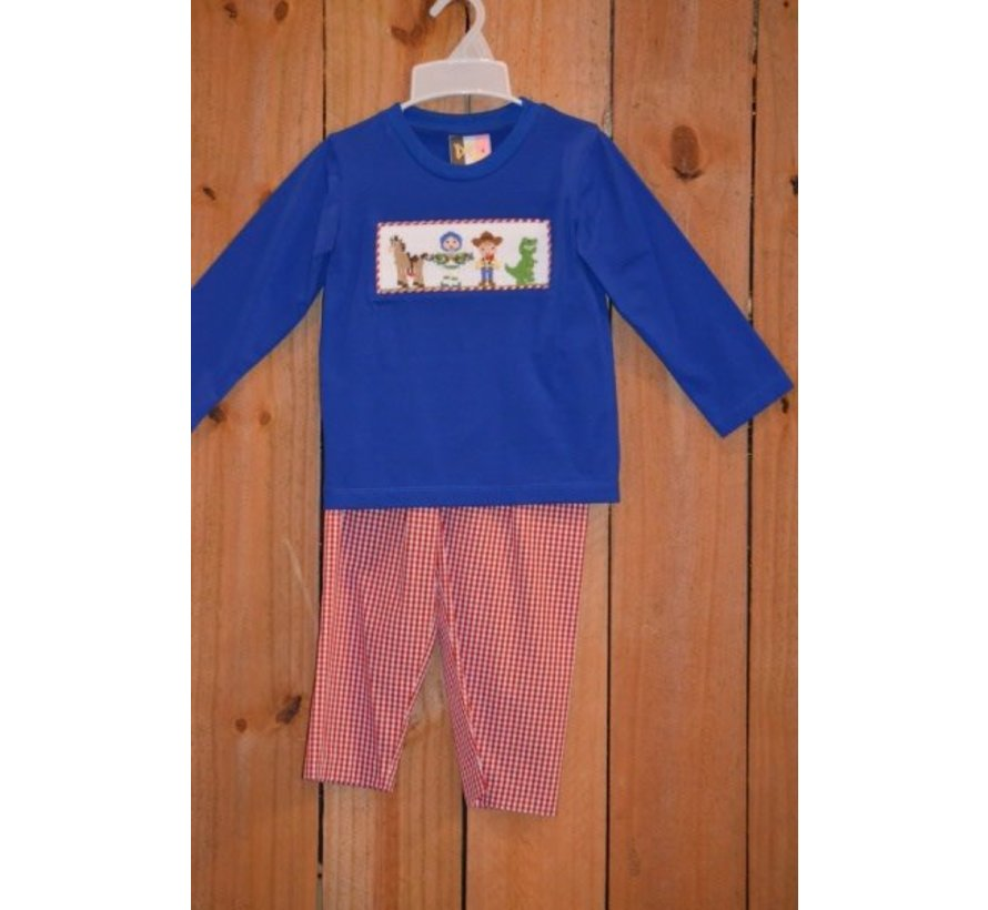 Toy Time Smocked Boys T-shirt and Pants