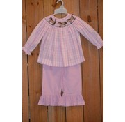 BANANA SPLIT KIDS Saddle Up Smocked Bishop Top and Ruffle Pants