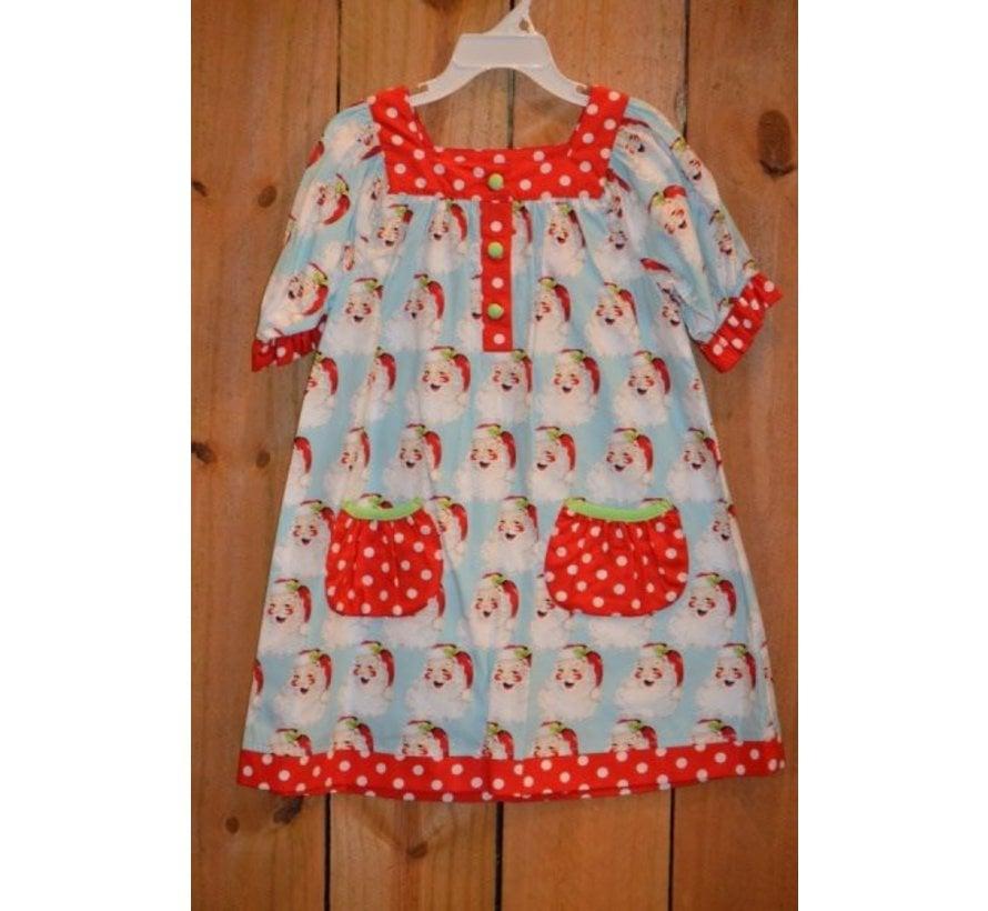 Dear Santa Yoke Dress with Pockets