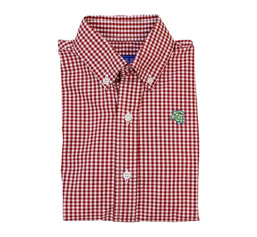 Tobasco Red Check Buttondown Shirt